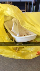 how to make a story on snapchat with chinese food