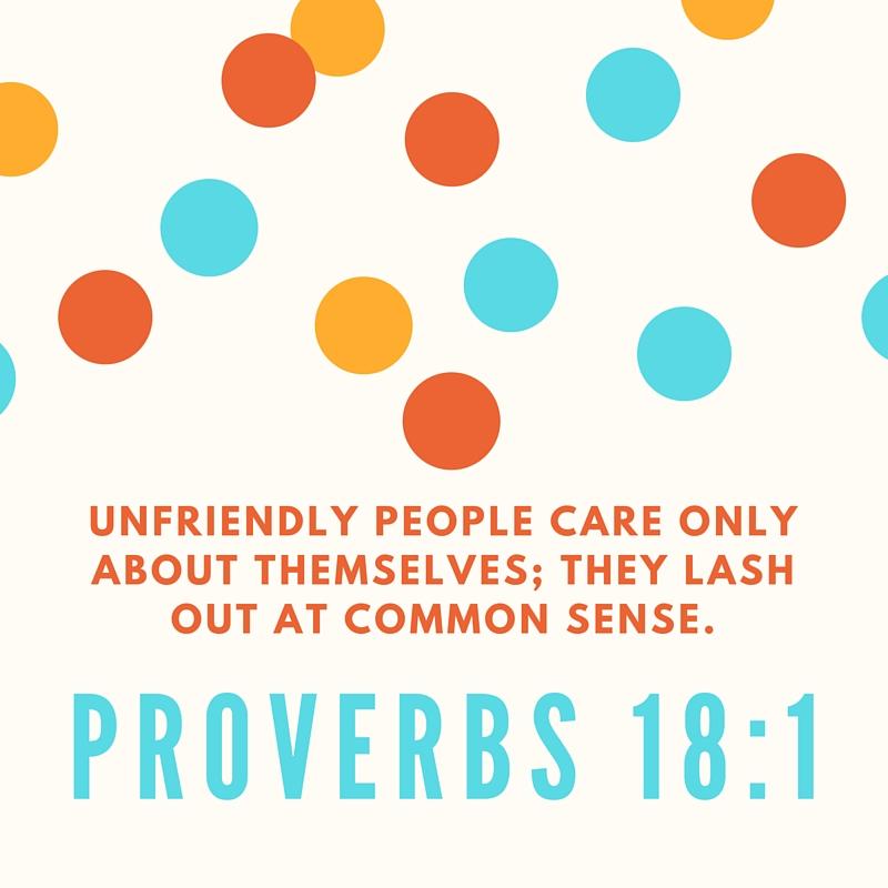 Greg Salciccioli loves Proverbs 18:1