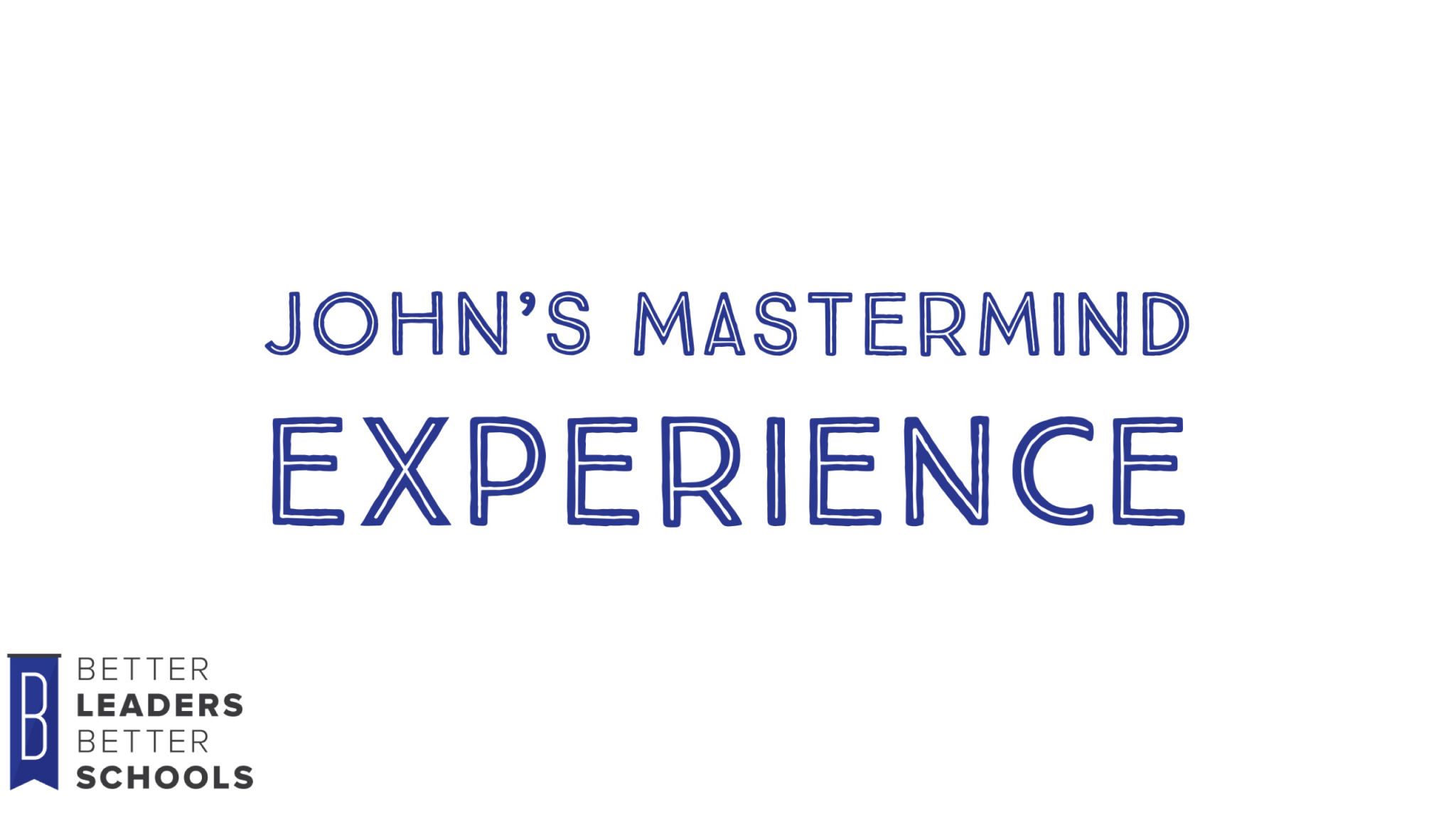 John Fortney shares his experience in the mastermind